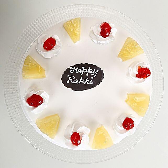 Rakhi and Pineapple Cake 2kg eggless