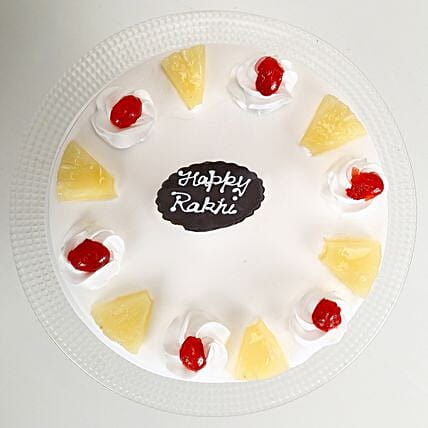 Rakhi and Pineapple Cake half kg
