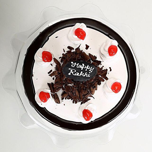 Rakhi with Blackforest Cake 2kg eggless
