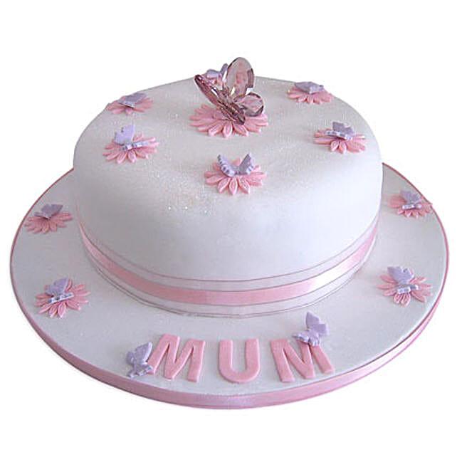 Simple and Sweet Love Mom Cake 3kg Vanilla