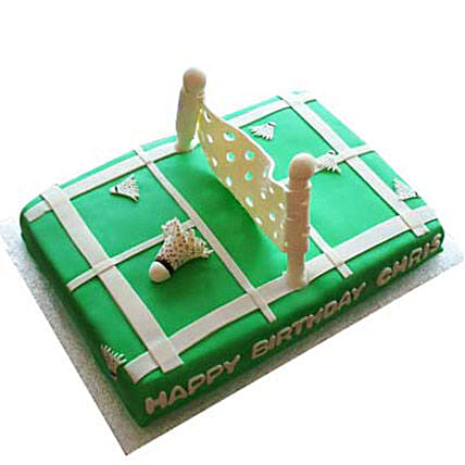 Smashing Badminton Court Cake 3Kg Eggless Chocolate