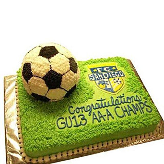 Soccer Cake 2Kg Eggless Chocolate