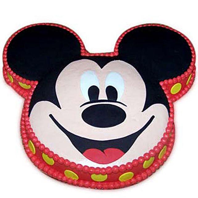 Soft Mickey Face Cake 4kg Vanilla Eggless