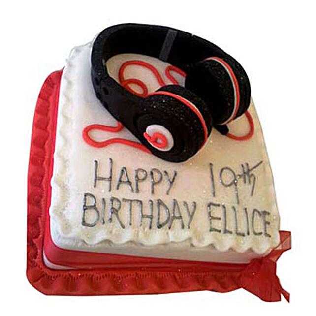 Softy Headphone Cake 4Kg Eggless Chocolate