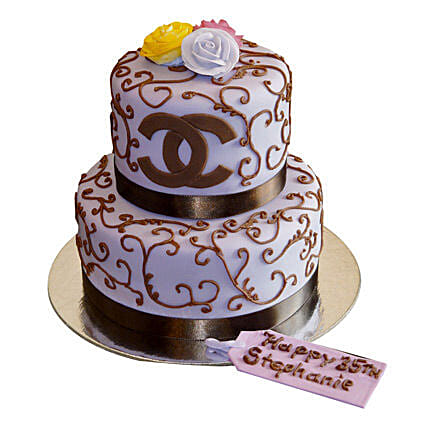 Special Chanel Cake 3kg Eggless