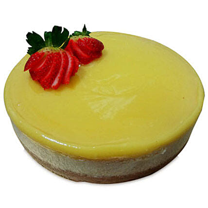 Special Delicious Lemon Cheese Cake 2kg Eggless