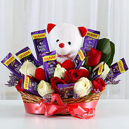 Red Roses, Teddy, & Chocolates