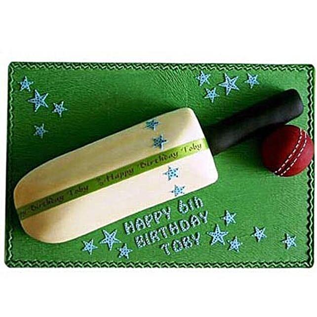 Splendid Cricket Bat Ball Cake 3Kg Eggless Chocolate