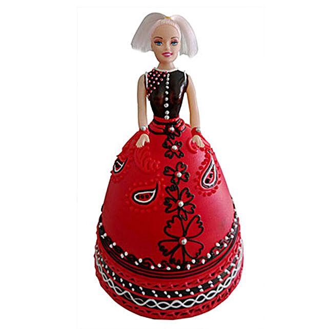 Strawberry Baby Doll Cake 2 Kg Eggless