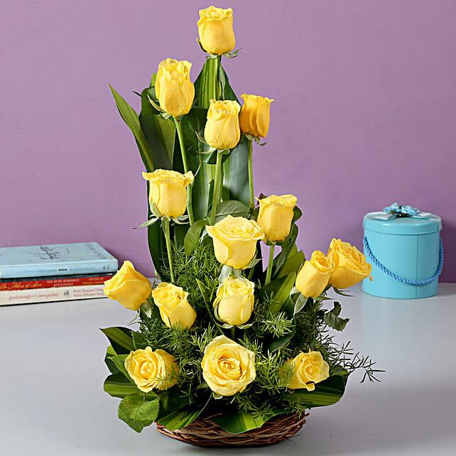 Flower arrangements fresh flower arrangement floral arrangements rose arrangement sunshine yellow mightylinksfo