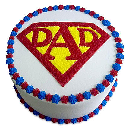 Super Cake For A Super Dad 1kg Vanilla Eggless