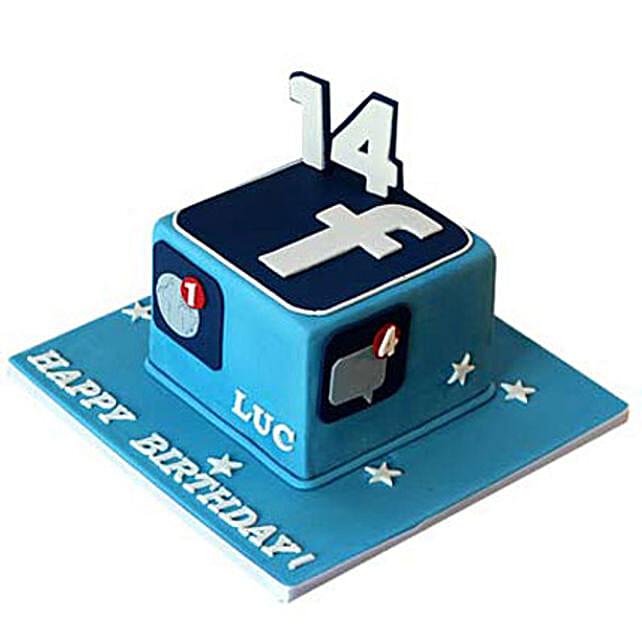 Tasty Facebook Cake 2kg by FNP
