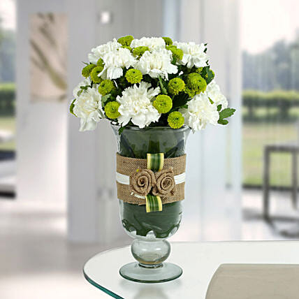 White Carnations Arrangement