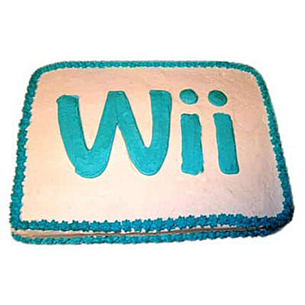 Wii Engaging Logo Cake 2kg by FNP