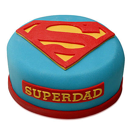 Yummy Super Dad Special Cake 3kg Vanilla Eggless