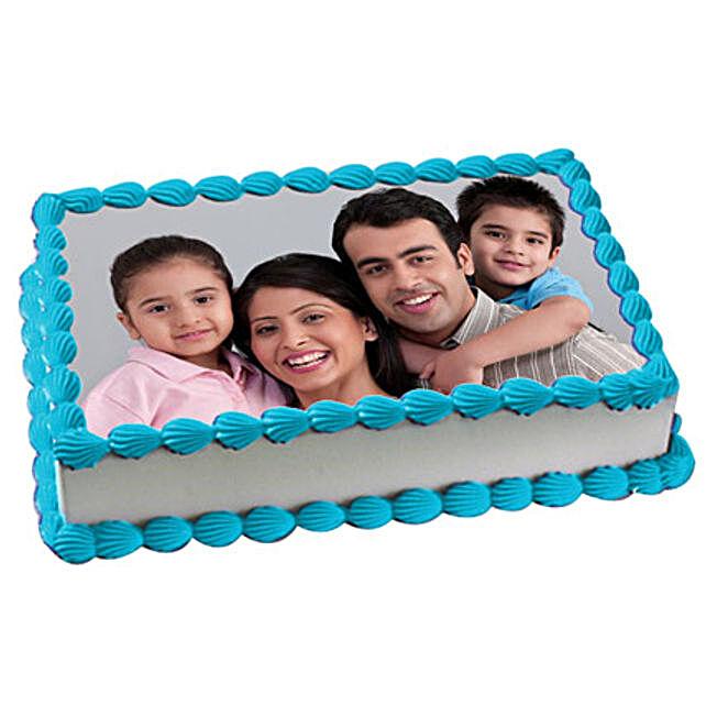 Yummy Vanilla Photo Cake 1kg