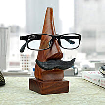 Classic Wooden Eye Glass Holder