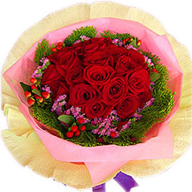 A Perfect Arrangement of Roses