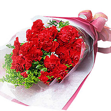 Romance With Red Carnations