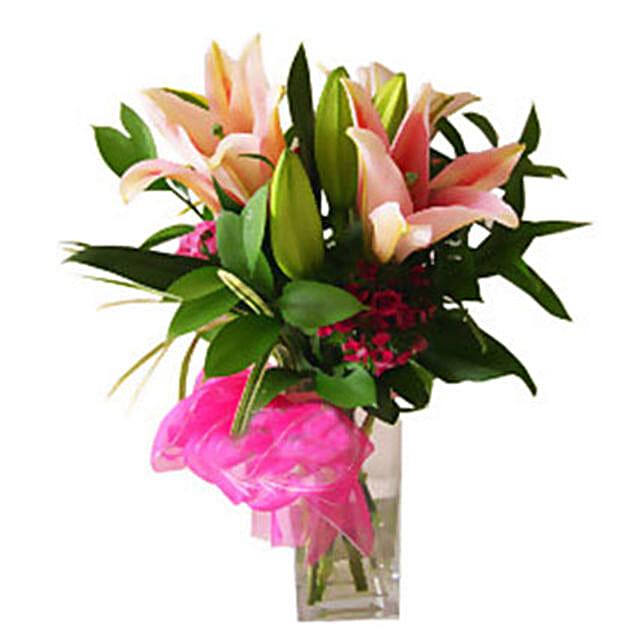 Stargazer Lilies in Vase