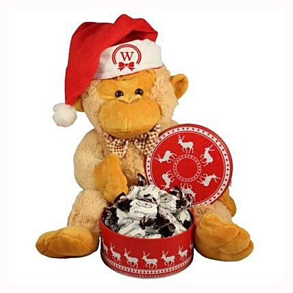 Christmas Treats with Monkey Plush Toy