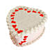 Lovely Heart Shape Cake 1kg Chocolate