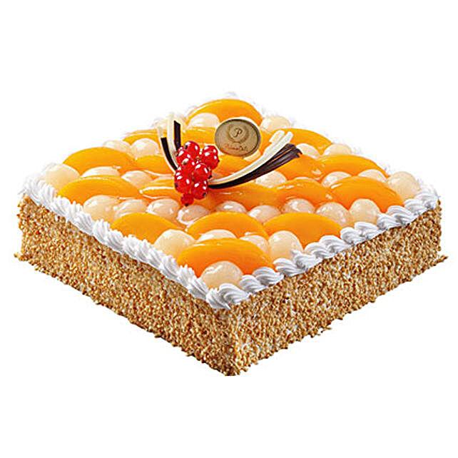 Savory Peach and Longan Cake