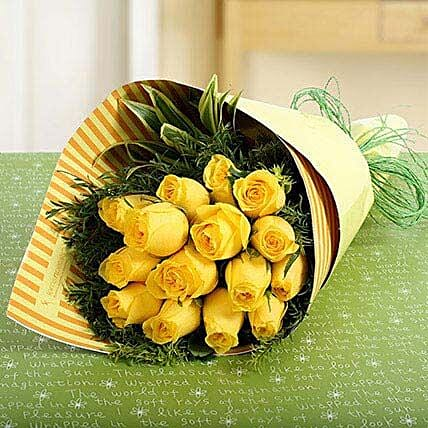 15 Yellow Roses Bunch