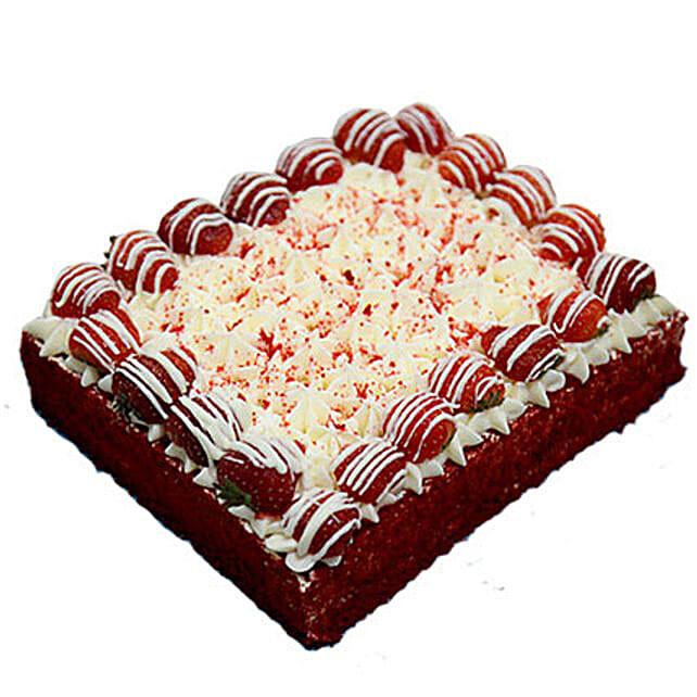 8 Portion Red Velvet Enticing Cake