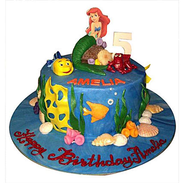 Ariel Mermaid Princess Cake