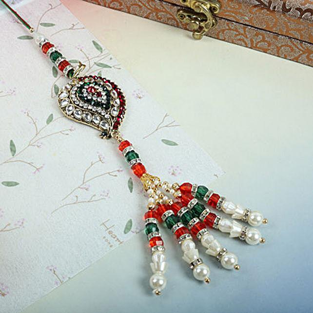 Bejeweled Lumba Rakhi