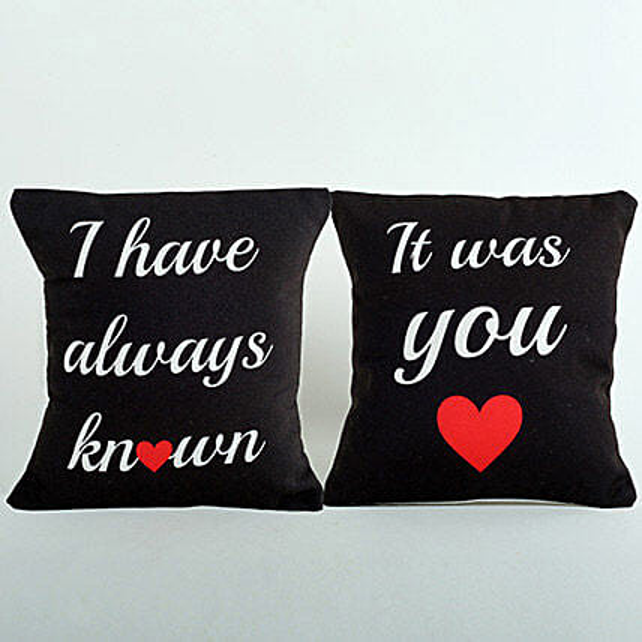 Black Couple Cushions