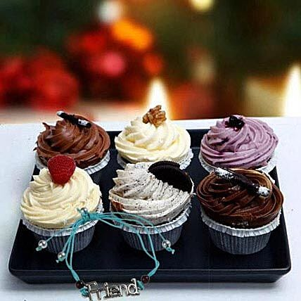 Cup Cakes with Friendship Band