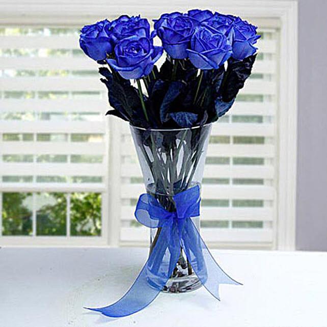 Floral Blue Garden