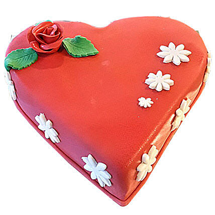 Flowerly Heart Cake