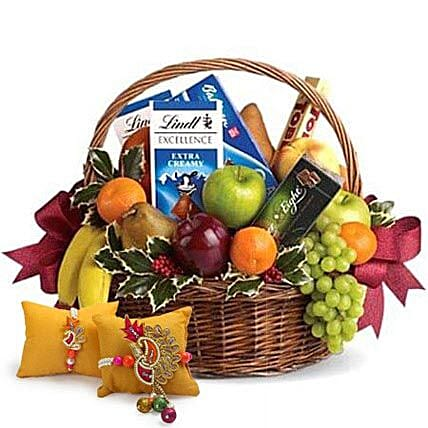 Fruitful Hamper with Rakhi