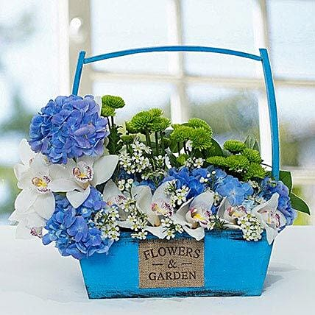 Graceful Flower Basket Arrangement