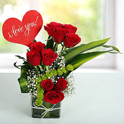 i love you flower arrangement in uae gift i love you flower