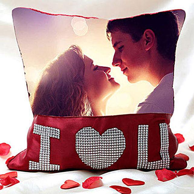 I Love You Personalized Cushion