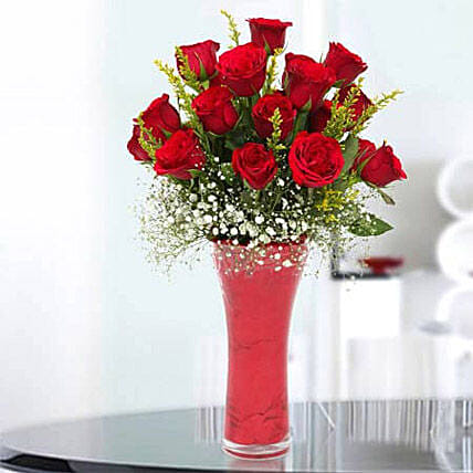 Long Stem Red Roses Premium