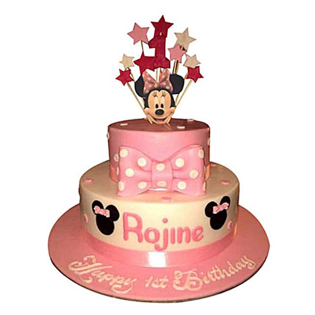 Minnie N Stars Cake