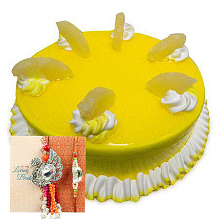 Rakhi with Pineapple Cake