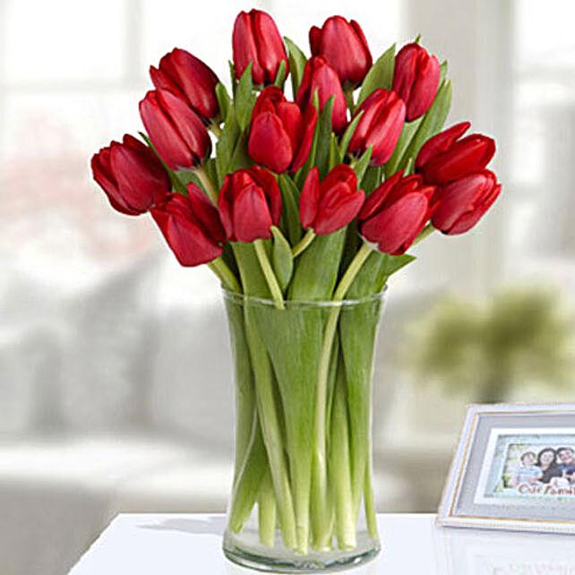 Red Tulip Arrangement Standard