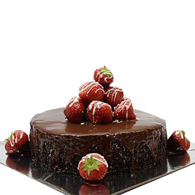 Strawberry Choco Truffle Cake