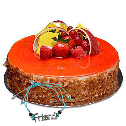 Strwaberry Cheese Cake with Friendship Band