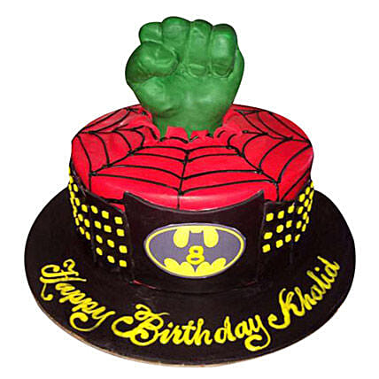 Superheroes at one place Cake