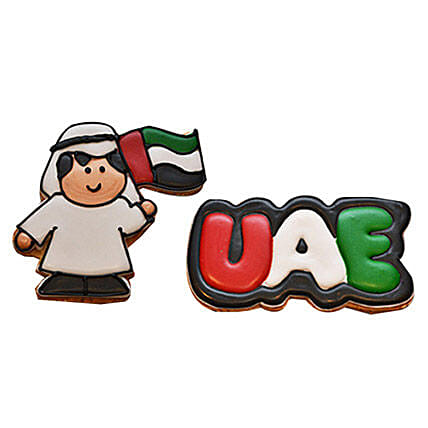 UAE Man With Flag Cookies Set of 3