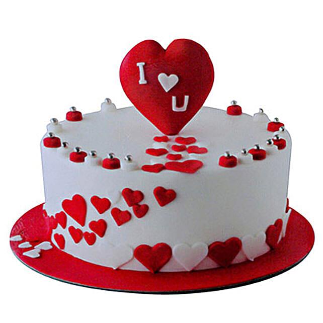 Valentine Round Cake
