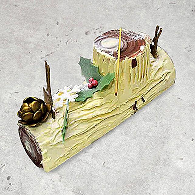 Vanilla Christmas Log Cake 12 Portions