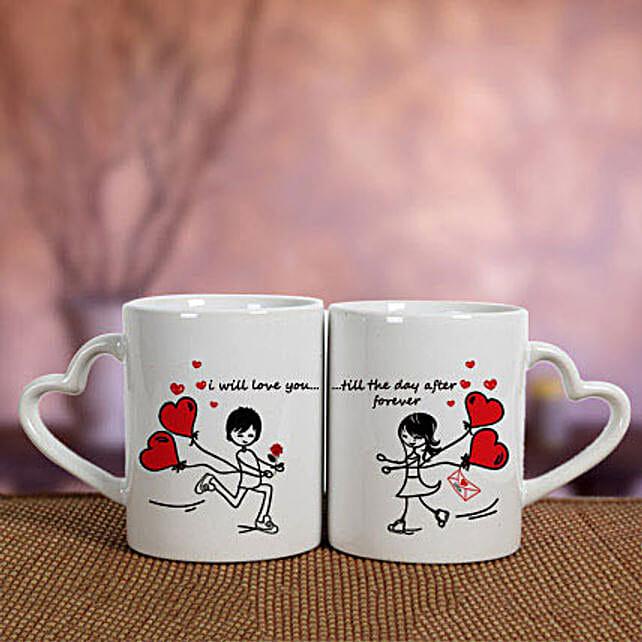 White Love Mugs